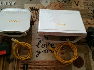 2 router módem jazztell adsl y fibra