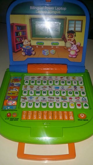 Ordenador laptop infantil bilingüe.