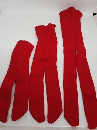Leotardos para muñecas en rojo
