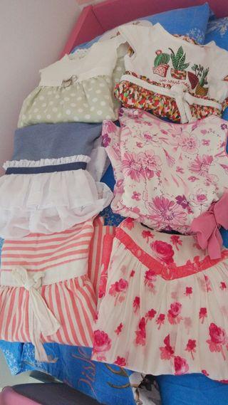 lote de vestidos 2-3años