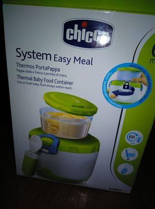 [ CHICCO ] Contenedor térmico para papillas. Bebé