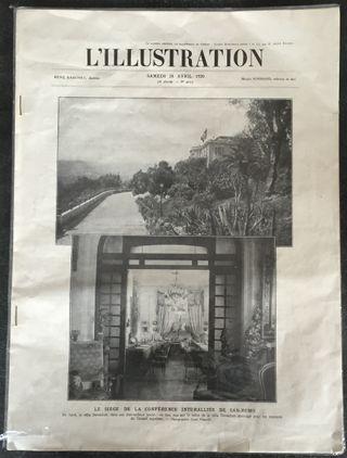 """Revue """" L'illustration"""" Nº 4025 du 24 avril 1920"""