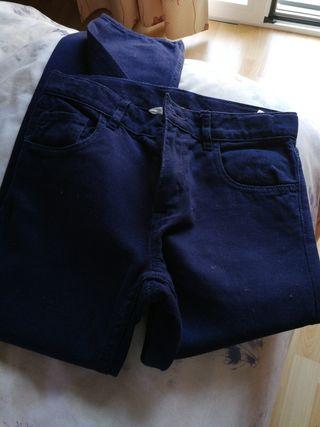Pantalón largo niño 7-8 años, azul marino