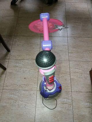 micrófono pie de violeta