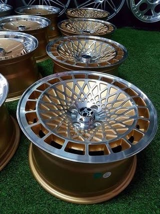 Llantas STG ST7 15x8 4x100 et25 Gold