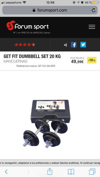 Set pesas 20kg