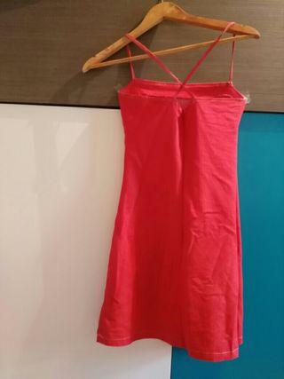 vestido verano rojo S
