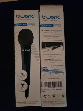 Microfonos Karaoke Joybox 6,3mm Nuevo
