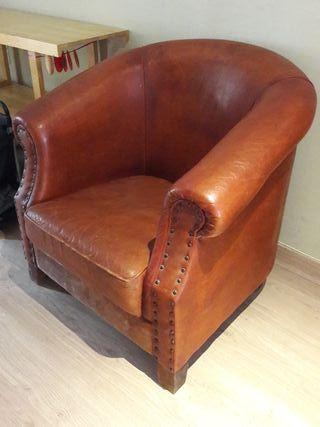 sofa de piel vintage