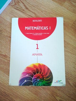 libro 1 bachiller, matemáticas