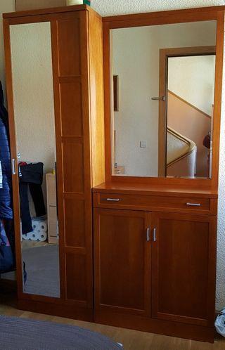 Recibidor armario de segunda mano por 380 en madrid en wallapop - Armario recibidor ...