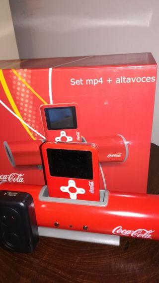 mp4 + altavoz Coca-Cola