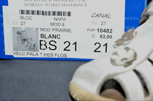 Sandalias blancas niña número 21