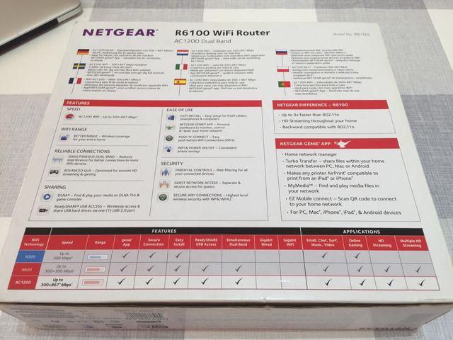 Netgear R6100 Router WiFi 2,4 y 5GHz ac de segunda mano por