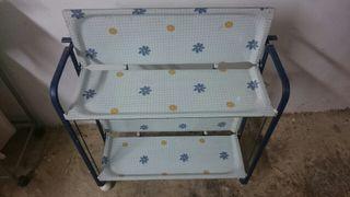 carrito mesa plegable