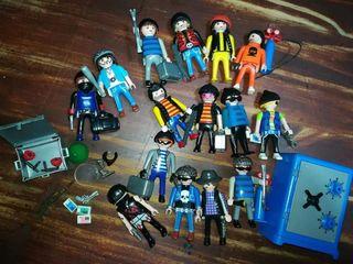 Playmobil lote ladrones de bancos