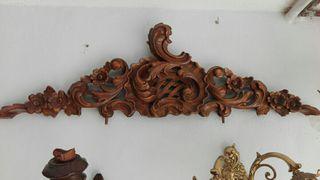 talla de madera estilo cornucopia