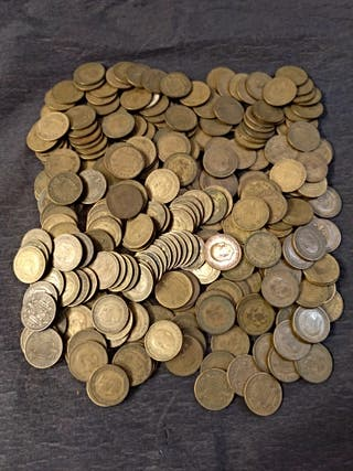 super lote de 250 monedas de 1 peseta Franco 1953