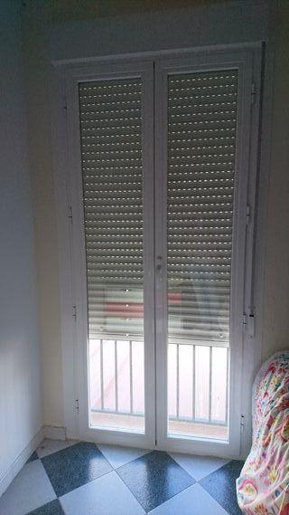 puerta/ventana Balconera aluminio lacada en blanco
