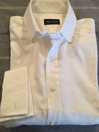 Camisa blanca hombre massimo dutti A estrenar !