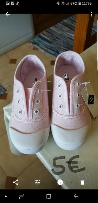 zapatillas niña sin estrenar