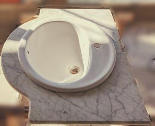 Conjunto lavabo y encimeras marmol