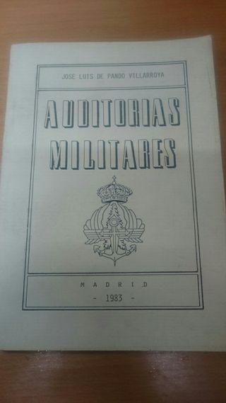 LIBRO ANTIGUO MILITAR