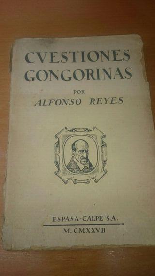 """LIBRO ANTIGUO """"CUESTIONES GONGORINAS"""""""