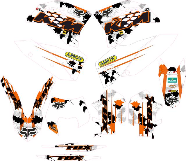 PEGATINAS KTM EXC/SX 08-11