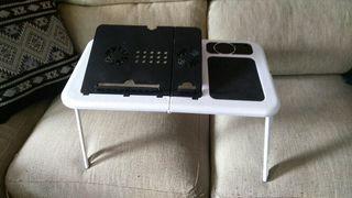 E-table portatil para ordenador con ventilador