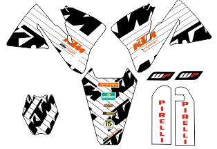 KIT ADHESIVOS KTM 2000-2002