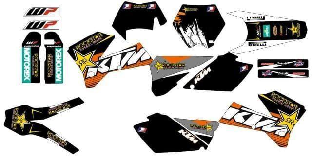 ADHESIVOS KTM EXC, SX 05-07