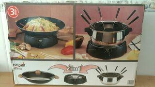 Set de wok y fondue electrico