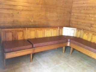 Mueble comedor esquina con mesa extensible