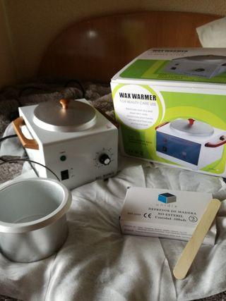Calentador Cera+Depresores+3'5kg Cera.