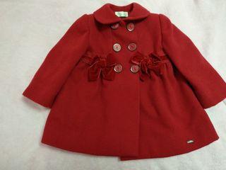 abrigo rojo niña 18m