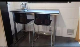 UTBY mesa alta cocina encimera y taburetes GLENN