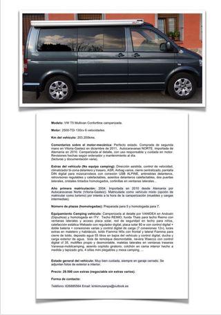 Volkswagen Multivan Camper California T5