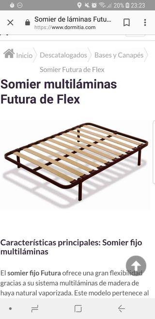 Somier Flex Futura 1.35 de segunda mano por 50 € en A Coruña