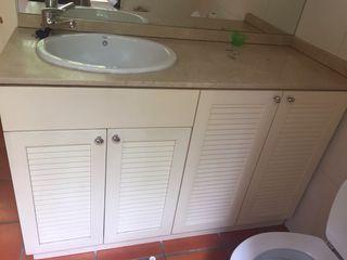 Lavabo con encimera marmol