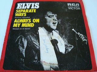 "ELVIS PRESLEY-.SEPARATE WAYS- SINGLE VINILO 7""."