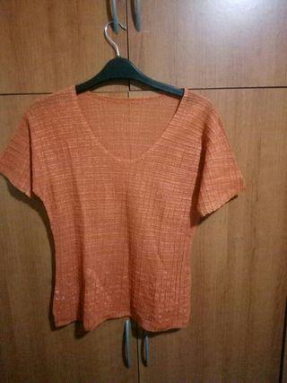 camiseta naranja manga corta