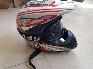 Casco Motocross Acerbis Talla M con Gafas Bads
