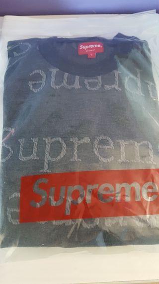 sudadera Supreme gris talla L