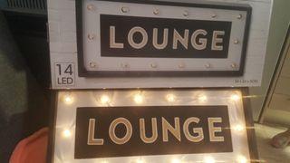 Cartel luminoso LED para Salon