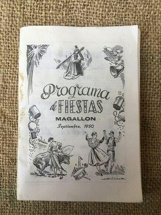 Programa fiestas 1950