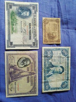 3 billetes pesetas españa + regalo