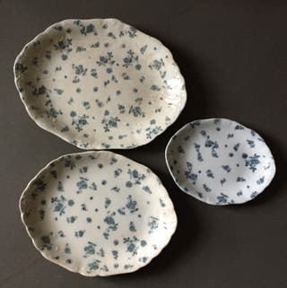 3 plats ovales Porcelaine Anciens Furnival gland