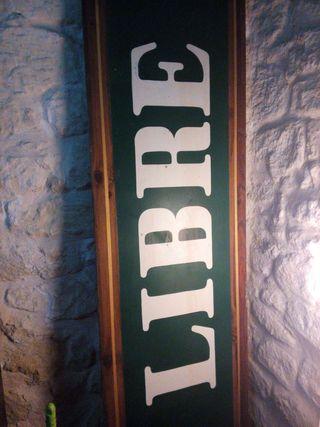 Cartel de madera vintage