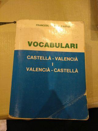 vocabulario castellabo-valenciano